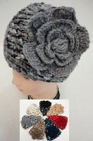 Wide Hand Knitted Ear Band [Variegated-Flower]